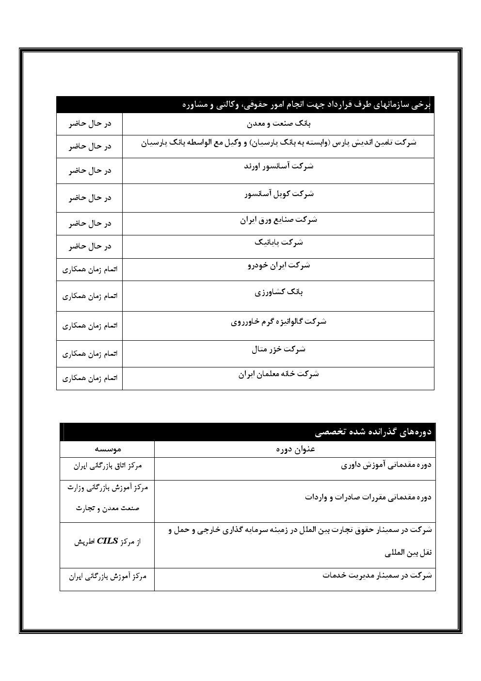 Resume farsi Reza 2 2 - معرفی